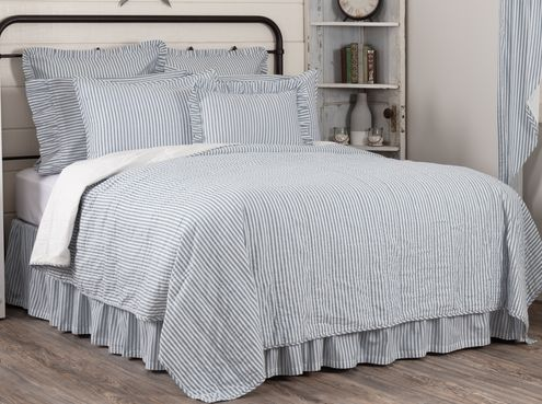 Sawyer Mill Blue Ticking Bedding Collection