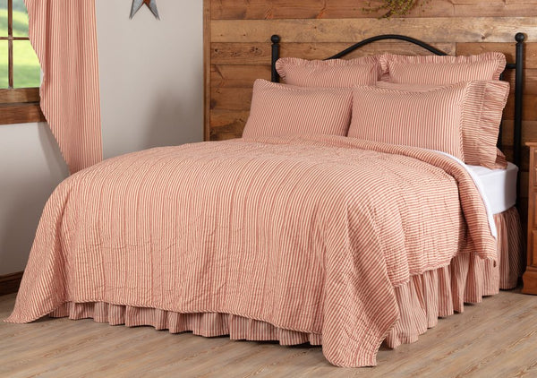 Sawyer Mill Red Ticking Stripe Bedding Collection