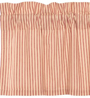 Sawyer Mill Red Ticking Stripe Window Treatments