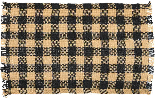 Burlap Black Check Table Collection