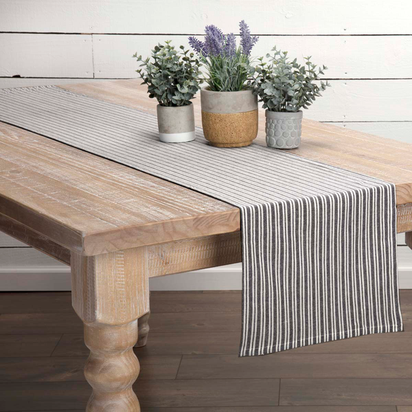 Classic Stripe Black Table Collection