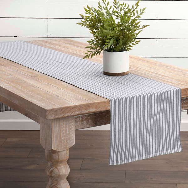 Classic Stripe Blue Table Collection