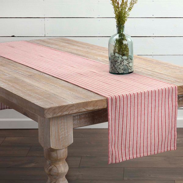 Classic Stripe Red Table Collection