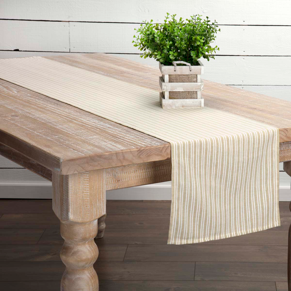 Classic Stripe Taupe Table Collection