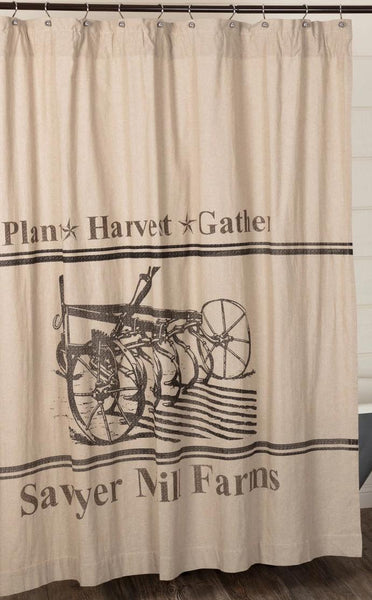 Sawyer Mill Charcoal Plow Shower Curtain