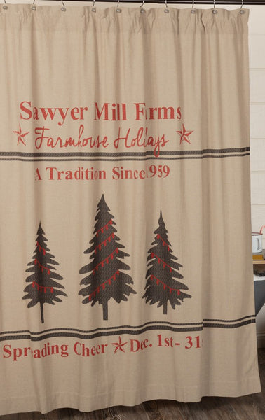 Sawyer Mill Tree Shower Curtain
