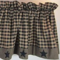 Primitive Star Patch Black Window Treatments
