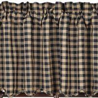 Black Check Window Treatments