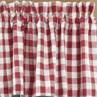 Buffalo Red Check Window Treatments