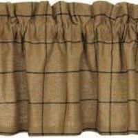 Burlap Check Window Treatments