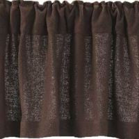 Burlap Chocolate Window Treatments