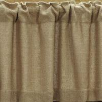 Burlap Natural Window Treatments