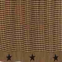 Black Applique Star Shower Curtain