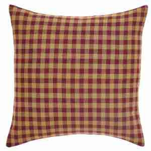 Burgundy Check Pillows