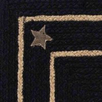 Burlap Star Black Braided Jute Rug Collection