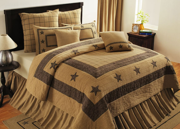 Burlap Star Tan Bedding