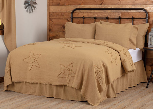 Burlap Natural Star Bedding Collection