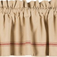 Grain Sack Red Window Treatments