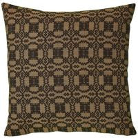 Campbell Black Woven Pillow