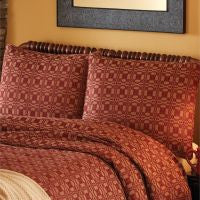 Campbell Wine Woven Coverlet Collection