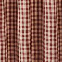 Crochet Gingham Garnet Shower Curtain