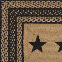 Farmhouse Stenciled Braided Jute Rug Collection