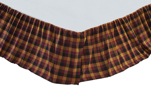 Primitive Check Bed Skirts