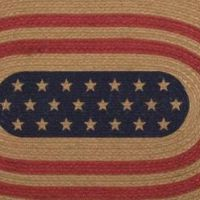 Liberty Stars Flag Braided Jute Rug Collection