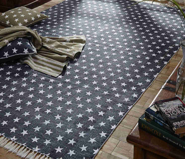 Multi Star Navy Rug Collection