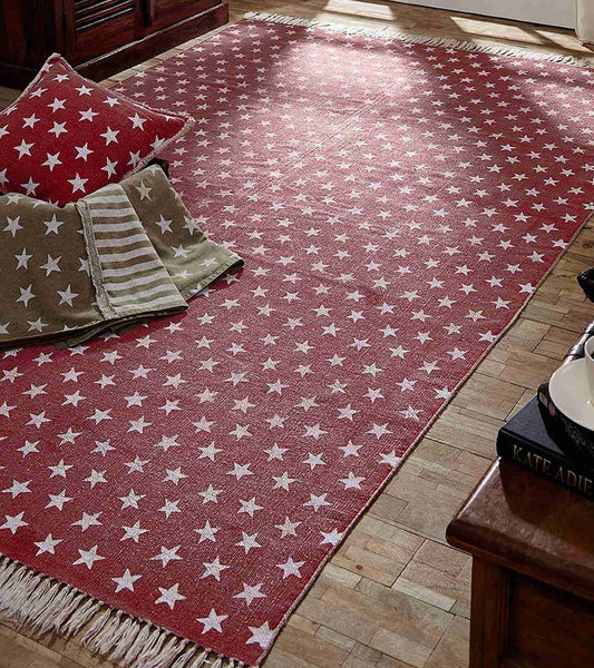 multi star red rug collection - Decorative Rugs