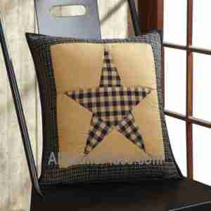 Primitive Star Patch Black Pillows