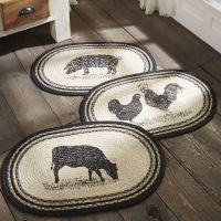 Sawyer Mill Farm-Animal Braided Jute Rugs