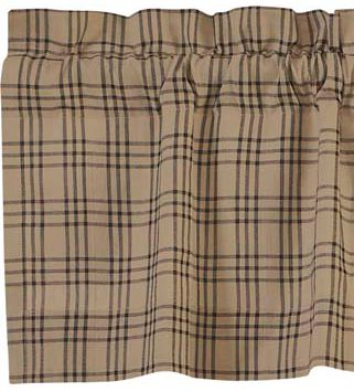 Sawyer Mill Charcoal Plaid Window Treatments