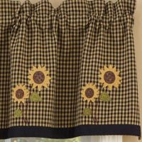 Sunflower Check Window Treatments