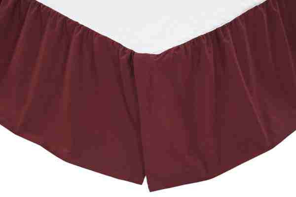 Solid Burgundy Bed Skirts