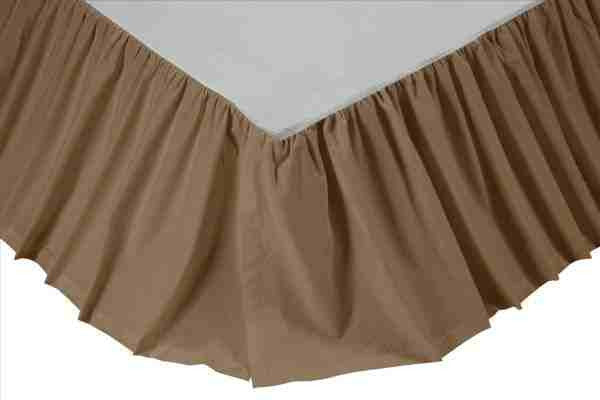 Solid Khaki Bed Skirts