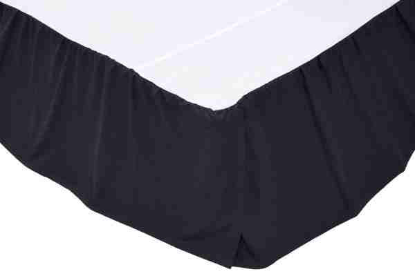 Solid Navy Bed Skirts