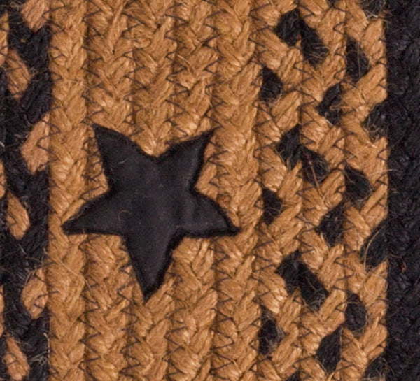 Star Black Braided Jute Rug Collection