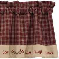 Sturbridge Wine Live Laugh Love Window Treatments