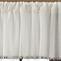 Tobacco Cloth Antique White Window Treatments