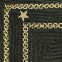Texas Black Braided Jute Rug Collection
