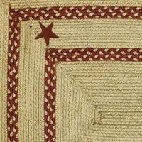 Texas Red Braided Jute Rug Collection