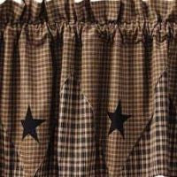 Vintage Star Black Window Treatments