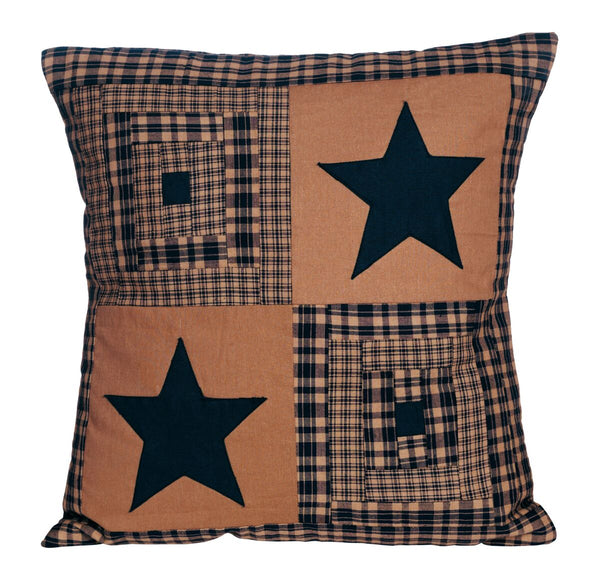 Vintage Star Black Pillow