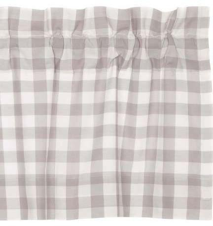 Annie Buffalo Grey Check Window Treatments