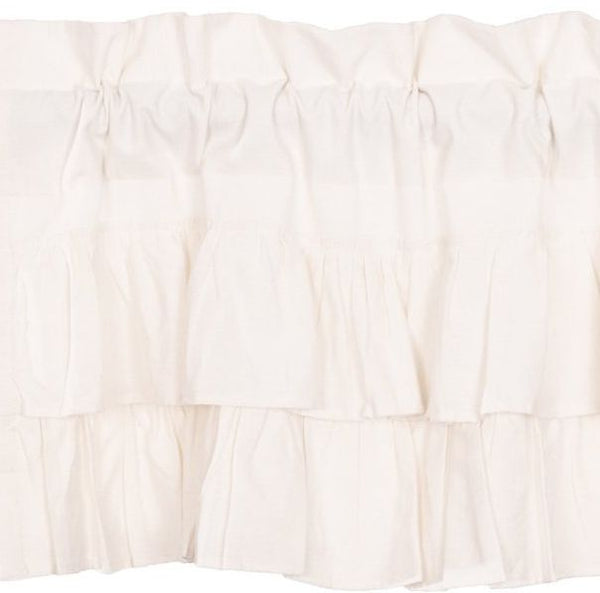 Simple Life Flax Antique White Ruffled Window Treatments