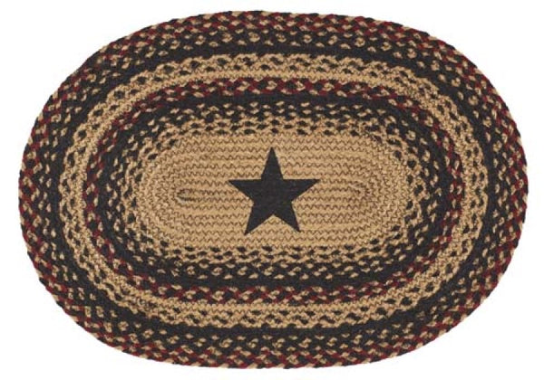 Blackberry Star Braided Jute Table Collection