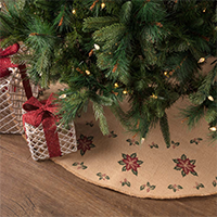 Jute Burlap Poinsettia Collection