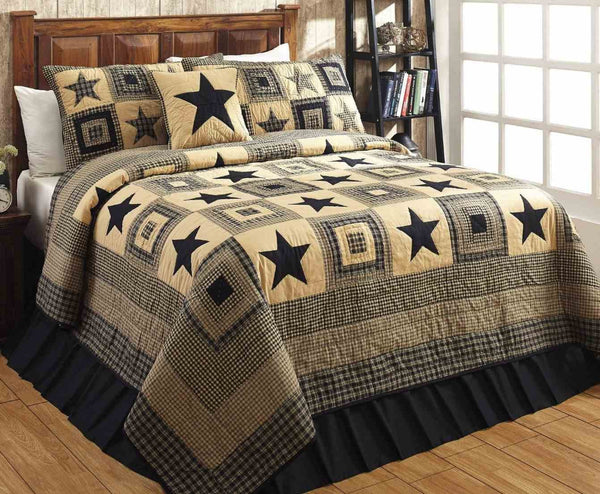 Colonial Star Black and Tan Bedding Collection