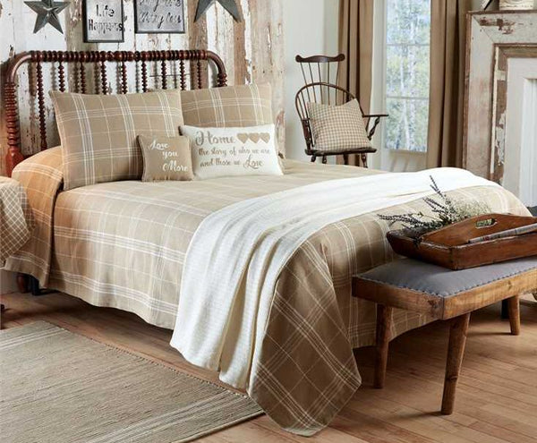 Fieldstone Plaid Cream Bedding